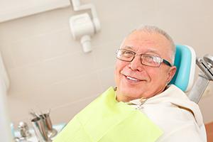 Older Man in Dental Chair
